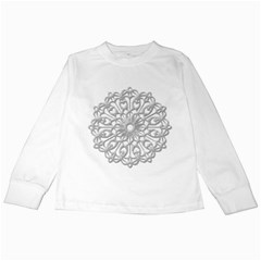 Scrapbook Side Lace Tag Element Kids Long Sleeve T-Shirts
