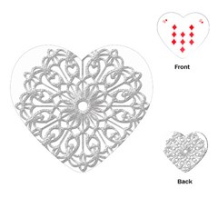 Scrapbook Side Lace Tag Element Playing Cards (heart)