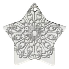 Scrapbook Side Lace Tag Element Star Ornament (Two Sides)
