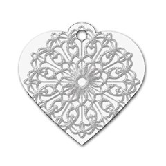 Scrapbook Side Lace Tag Element Dog Tag Heart (two Sides)