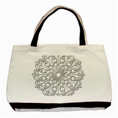 Scrapbook Side Lace Tag Element Basic Tote Bag (two Sides)