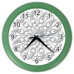 Scrapbook Side Lace Tag Element Color Wall Clocks