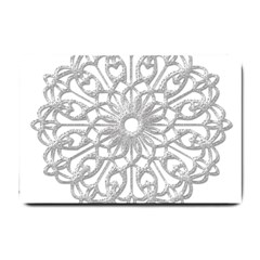Scrapbook Side Lace Tag Element Small Doormat