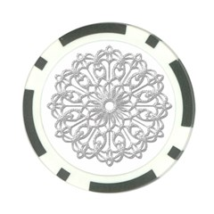 Scrapbook Side Lace Tag Element Poker Chip Card Guard (10 pack)