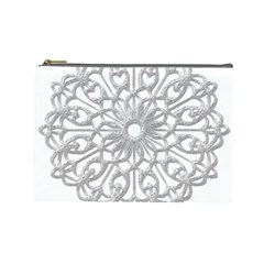 Scrapbook Side Lace Tag Element Cosmetic Bag (large)
