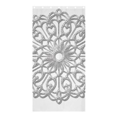 Scrapbook Side Lace Tag Element Shower Curtain 36  x 72  (Stall)