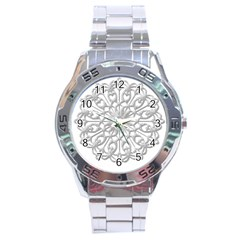 Scrapbook Side Lace Tag Element Stainless Steel Analogue Watch