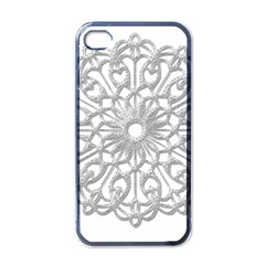 Scrapbook Side Lace Tag Element Apple Iphone 4 Case (black)