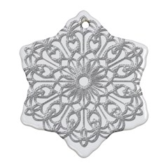 Scrapbook Side Lace Tag Element Snowflake Ornament (Two Sides)