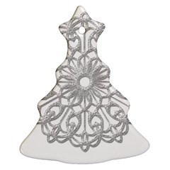 Scrapbook Side Lace Tag Element Christmas Tree Ornament (Two Sides)