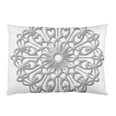Scrapbook Side Lace Tag Element Pillow Case (Two Sides)