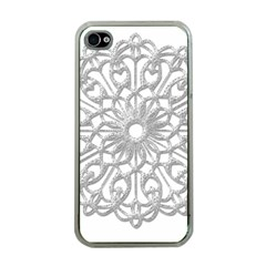 Scrapbook Side Lace Tag Element Apple Iphone 4 Case (clear)