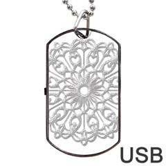 Scrapbook Side Lace Tag Element Dog Tag USB Flash (One Side)