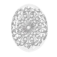 Scrapbook Side Lace Tag Element Oval Filigree Ornament (Two Sides)