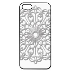 Scrapbook Side Lace Tag Element Apple Iphone 5 Seamless Case (black)
