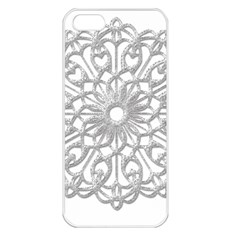 Scrapbook Side Lace Tag Element Apple iPhone 5 Seamless Case (White)