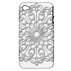 Scrapbook Side Lace Tag Element Apple Iphone 4/4s Hardshell Case (pc+silicone)