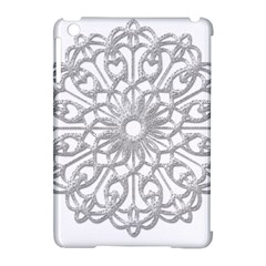Scrapbook Side Lace Tag Element Apple Ipad Mini Hardshell Case (compatible With Smart Cover)
