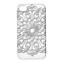 Scrapbook Side Lace Tag Element Apple Iphone 4/4s Hardshell Case With Stand
