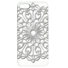 Scrapbook Side Lace Tag Element Apple Iphone 5 Hardshell Case With Stand
