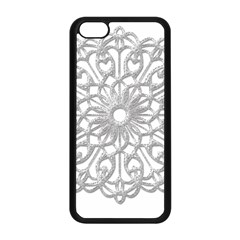 Scrapbook Side Lace Tag Element Apple Iphone 5c Seamless Case (black)