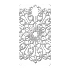 Scrapbook Side Lace Tag Element Samsung Galaxy Note 3 N9005 Hardshell Back Case