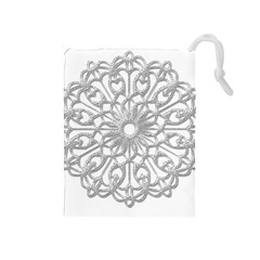Scrapbook Side Lace Tag Element Drawstring Pouches (medium)
