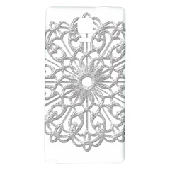 Scrapbook Side Lace Tag Element Galaxy Note 4 Back Case