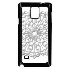 Scrapbook Side Lace Tag Element Samsung Galaxy Note 4 Case (black)