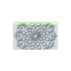 Scrapbook Side Lace Tag Element Cosmetic Bag (xs)