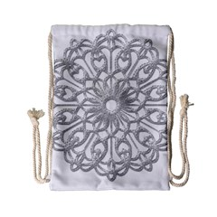 Scrapbook Side Lace Tag Element Drawstring Bag (Small)