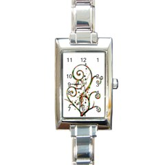 Scroll Magic Fantasy Design Rectangle Italian Charm Watch