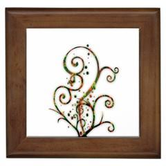 Scroll Magic Fantasy Design Framed Tiles