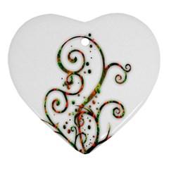 Scroll Magic Fantasy Design Ornament (Heart)