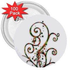 Scroll Magic Fantasy Design 3  Buttons (100 pack)