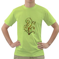 Scroll Magic Fantasy Design Green T-Shirt