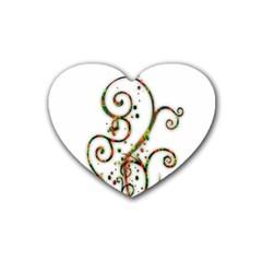 Scroll Magic Fantasy Design Rubber Coaster (Heart)