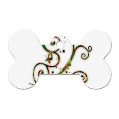 Scroll Magic Fantasy Design Dog Tag Bone (two Sides)
