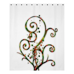 Scroll Magic Fantasy Design Shower Curtain 60  x 72  (Medium)
