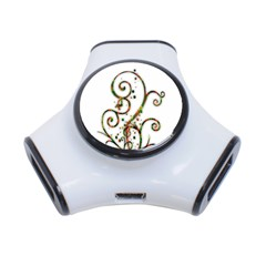 Scroll Magic Fantasy Design 3-Port USB Hub