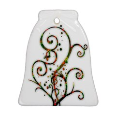 Scroll Magic Fantasy Design Bell Ornament (two Sides)