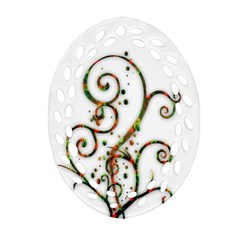 Scroll Magic Fantasy Design Oval Filigree Ornament (two Sides)
