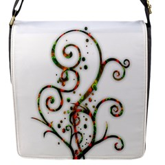 Scroll Magic Fantasy Design Flap Messenger Bag (S)