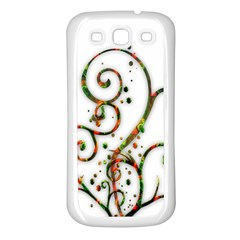 Scroll Magic Fantasy Design Samsung Galaxy S3 Back Case (white)