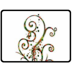 Scroll Magic Fantasy Design Double Sided Fleece Blanket (large)