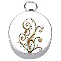 Scroll Magic Fantasy Design Silver Compasses