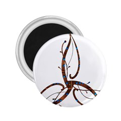 Abstract Shape Stylized Designed 2 25  Magnets