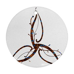 Abstract Shape Stylized Designed Ornament (round)