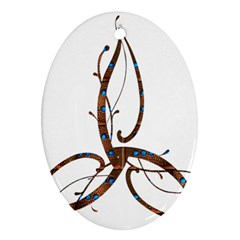 Abstract Shape Stylized Designed Ornament (Oval)