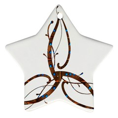 Abstract Shape Stylized Designed Ornament (Star)